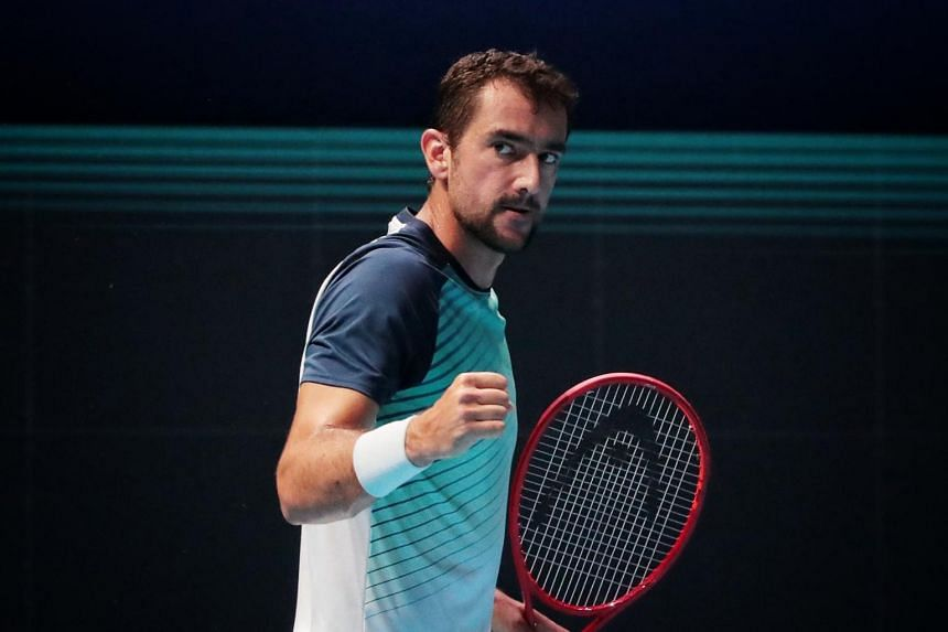 Croatia's Marin Cilic at the ATP Singapore Tennis Open at OCBC Arena on Feb 24, 2021.