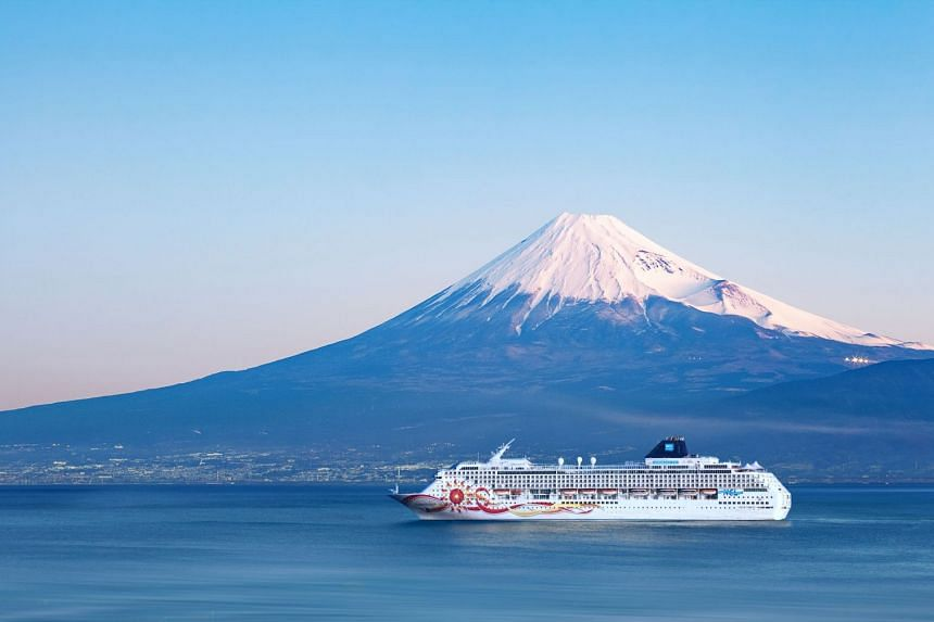 Take in the beauty and majesty of Mount Fuji in Japan as you set sail on the recently refurbished Norwegian Sun. PHOTO: NORWEGIAN CRUISE LINE