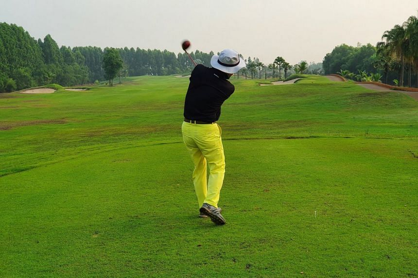"""Heo Kwang-eum is among the first group of South Korean tourists to arrive in Thailand under the """"golf quarantine"""" programme."""