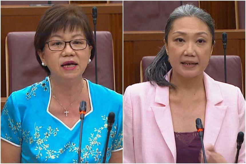 Jalan Besar GRC MP Denise Phua (left) and Nee Soon GRC MP Carrie Tan.