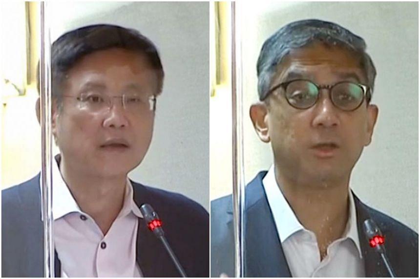 Gan Thiam Poh (Ang Mo Kio GRC) and Leon Perera (Aljunied GRC).