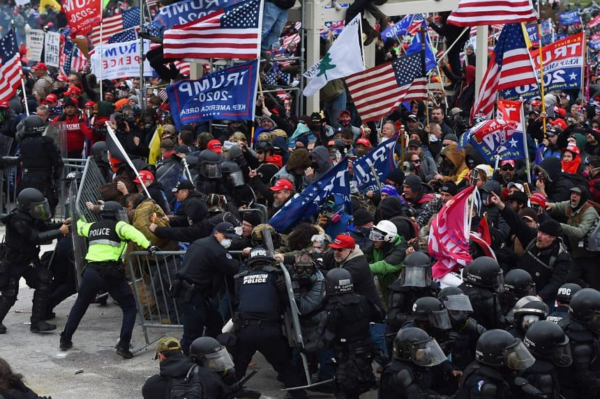 Trump supporters stormed the Capitol in Washington on Jan 6, 2021.