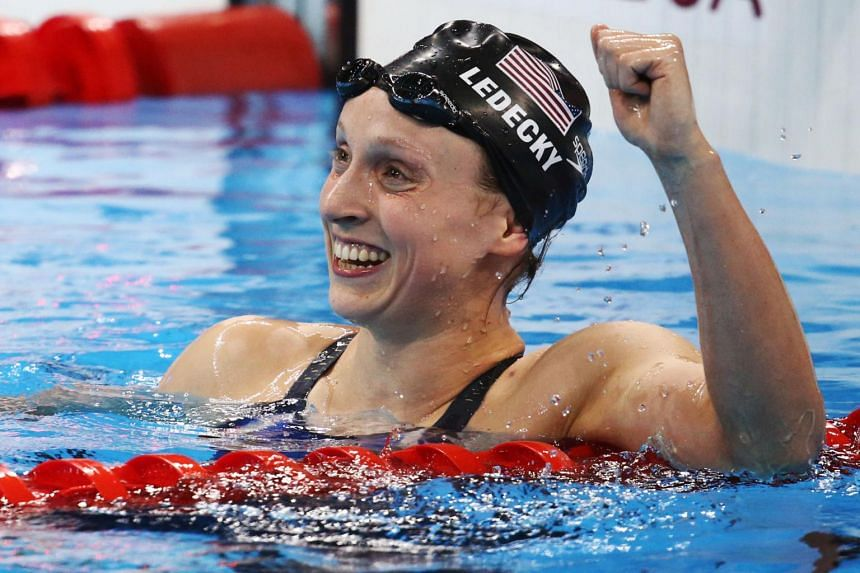 "Five-time Olympic champion Katie Ledecky is now back to her normal training routine and is ""in a good spot""."