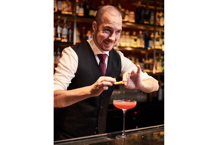 Rusty Cerven, 36, is the new bar manager of Manhattan at the Regent Singapore, which is ranked No. 14 on the World's 50 Best Bars List.