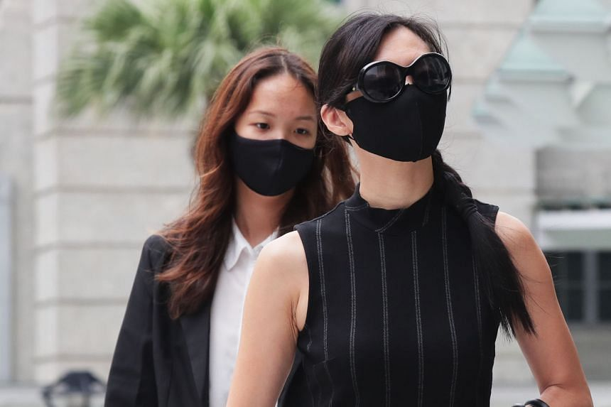 Twelve Cupcakes co-founder Jaime Teo arriving at the State Courts yesterday. Her case has been adjourned to March 9. ST PHOTO: KELVIN CHNG