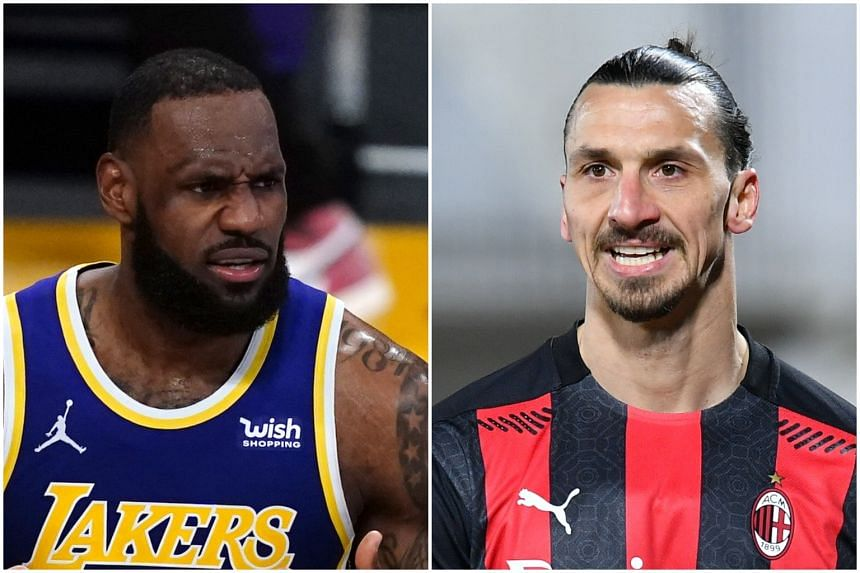 """LeBron James (left) was responding to Zlatan Ibrahimovic's comments that athletes should """"stay out"""" of politics."""