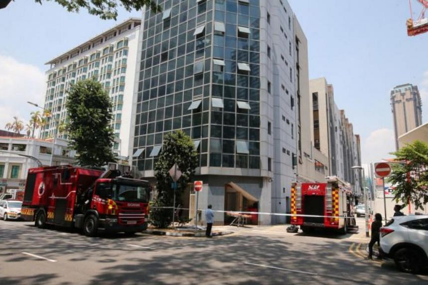 The lift technician was pronounced dead at the scene at about 5.30pm.