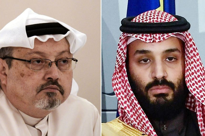 Riyadh has denied any involvement by Saudi Crown Prince Mohammed bin Salman (right) in the death of Jamal Khashoggi.