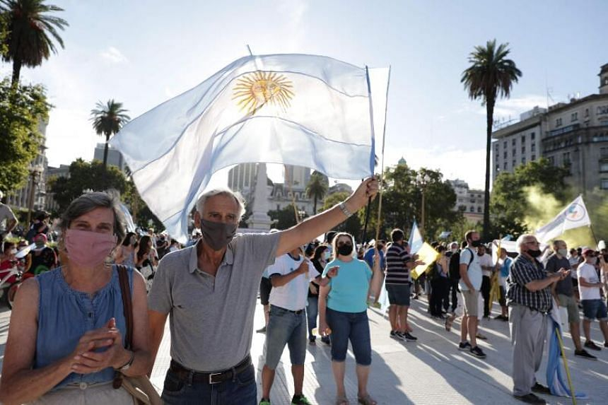 Protesters also rallied in other cities including Cordoba, Rosario and and Mar del Plata.