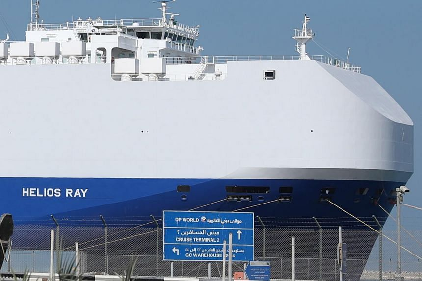 The MV Helios Ray was travelling from the Saudi port of Dammam to Singapore when the blast occurred on Feb 25, 2021.