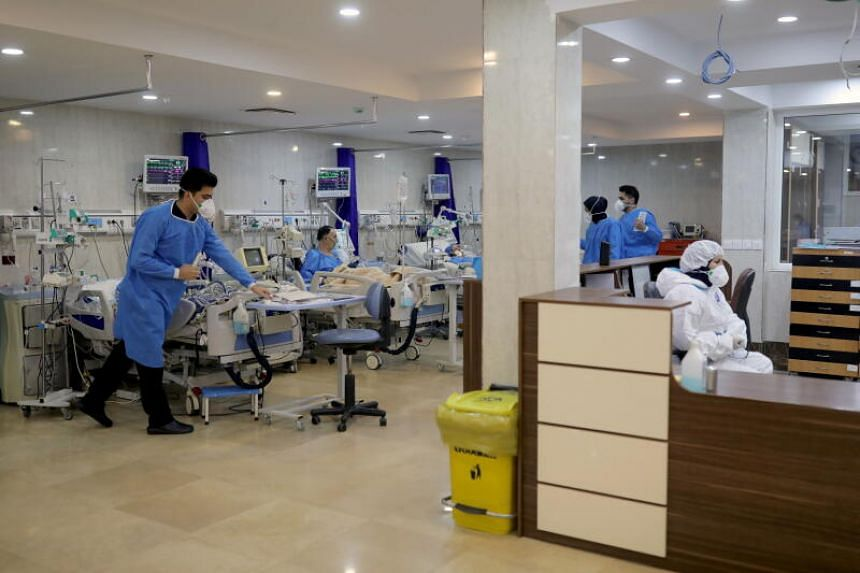 An intensive care unit for Covid-19 patients at a hospital in Tehran, Iran, on Dec 16, 2020.