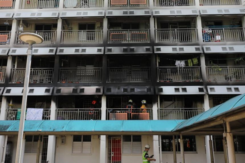About 100 people from the affected block were evacuated by SCDF and the police.