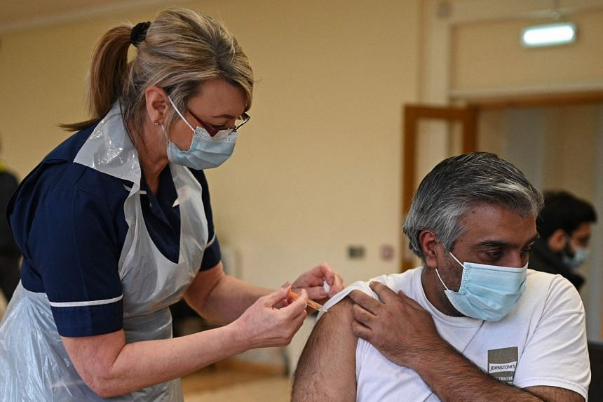 The highest percentage was found in the UK with 89 per cent of those questioned in favour of taking a vaccine.