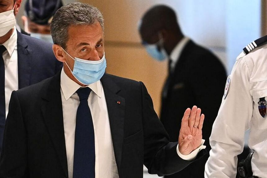 Former French president Nicolas Sarkozy was given a three-year prison sentence, of which two years are suspended.