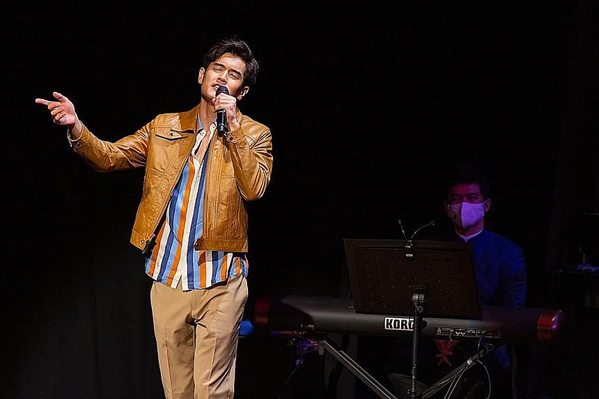Nathan Hartono (above left) in Ding Yi Music Company's Happy Chinese New Year Concert 2021.