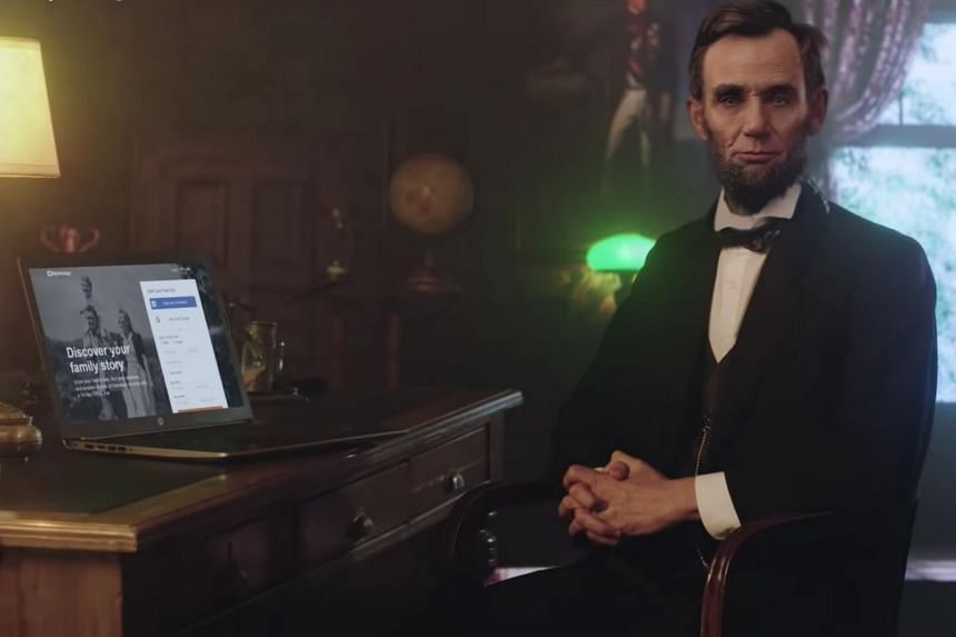 Abraham Lincoln in MyHeritage's new photo animation feature.