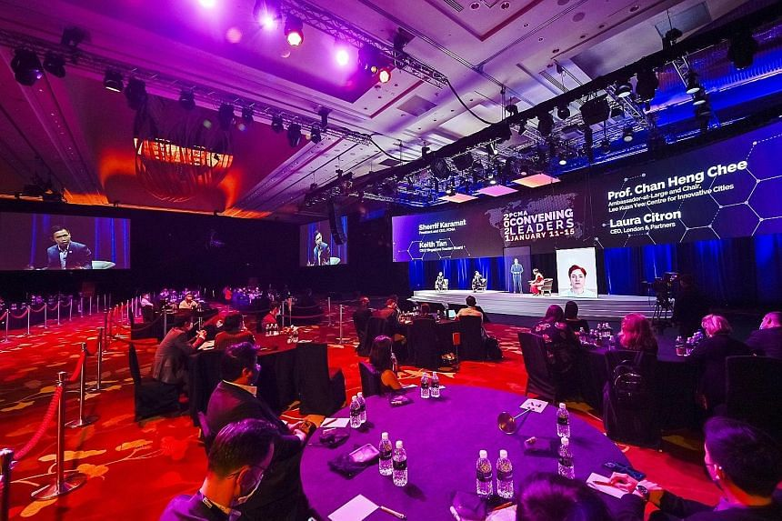 The Professional Convention Management Association Convening Leaders event, held in January, was attended by about 3,000 online participants and 300 attendees at Marina Bay Sands. It was the first time in the event's 64-year history that it was held