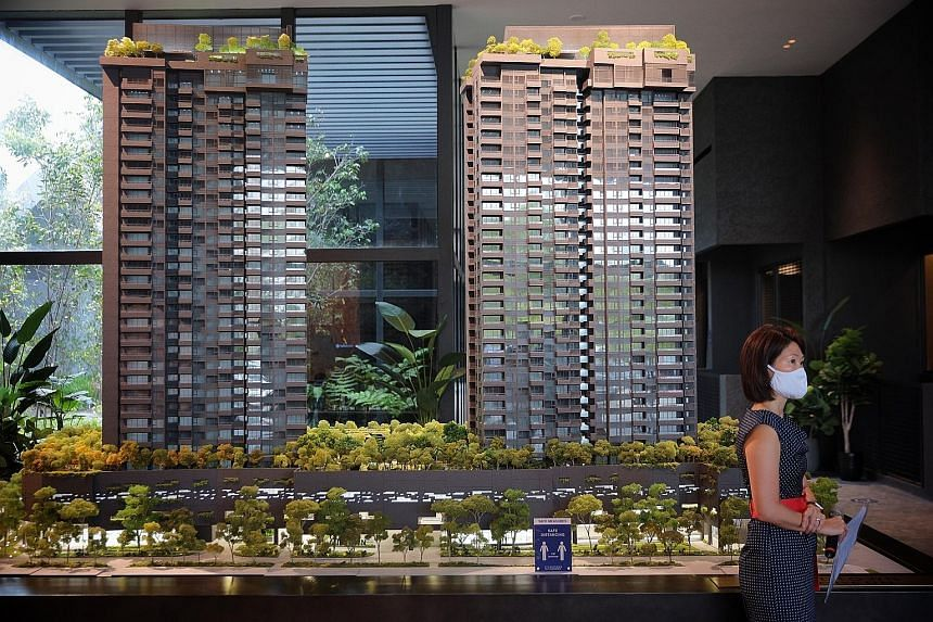 A model of Midtown Modern seen at the media launch of the 558-unit condominium yesterday.