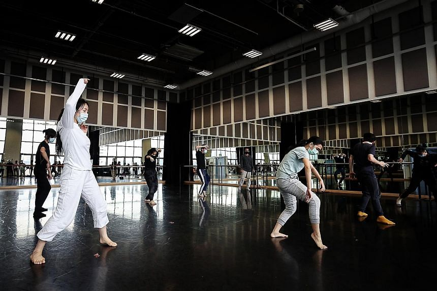 Last year, Lasalle College of the Arts (above) took in 300 Singaporeans and permanent residents across its degree programmes, while Nafa had 130. Both have seen healthy demand for their degree programmes. Nanyang Academy of Fine Arts (Nafa) students