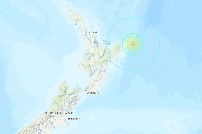 The USGS said the first quake hit 180km north-east of the city of Gisborne at 2.27am local time.
