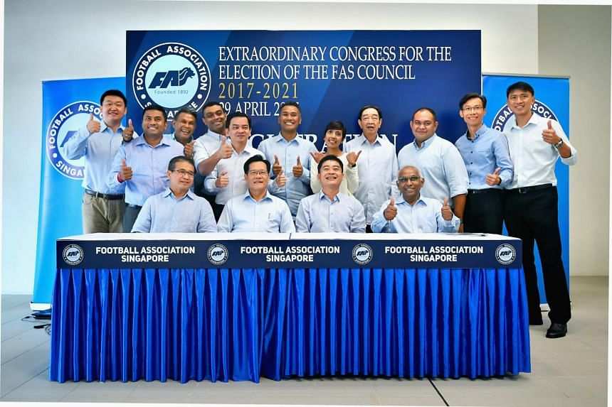 Team LKT in high spirits after their victory in the FAS election 2017 was announced on April 29, 2017.