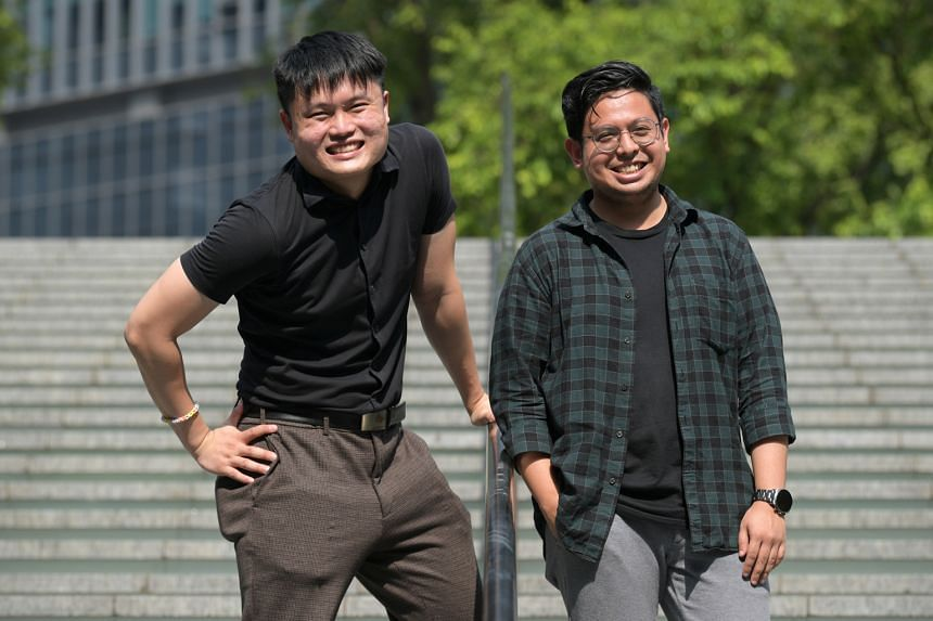 Dominic Nah (above left) and Adeeb Fazah (above right) say revisiting Robert Yeo's plays is in line with The Second Breakfast Company's aim to explore older Singapore works.