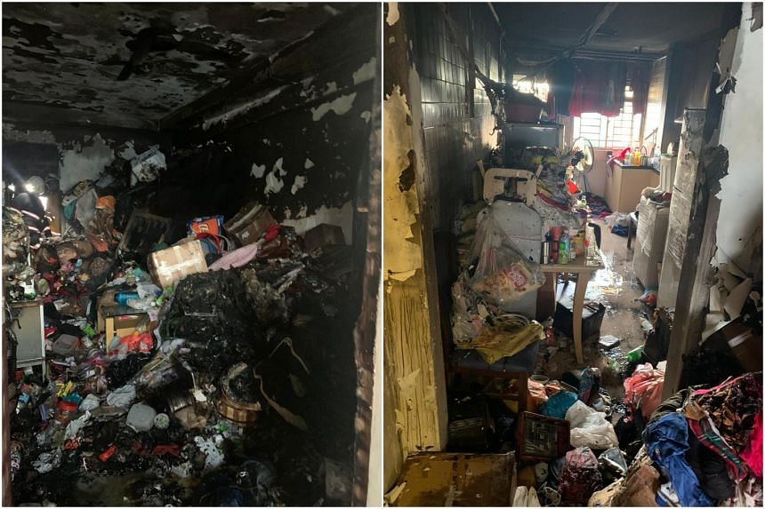 The SCDF said that at about 6.10am, it was alerted to the fire where the woman was found unconscious in a bedroom of the flat.