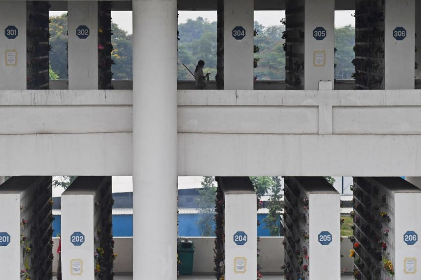 Government-managed columbariums in Choa Chu Kang, Mandai and Yishun will remain open 24/7 from March 20 to April 18.