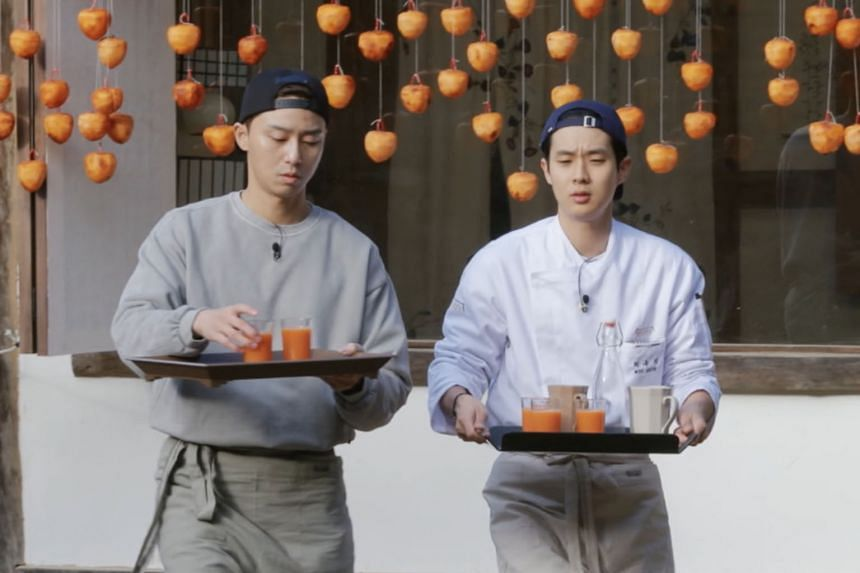 Park Seo-joon (above left) and Choi Woo-shik in Youn Stay.