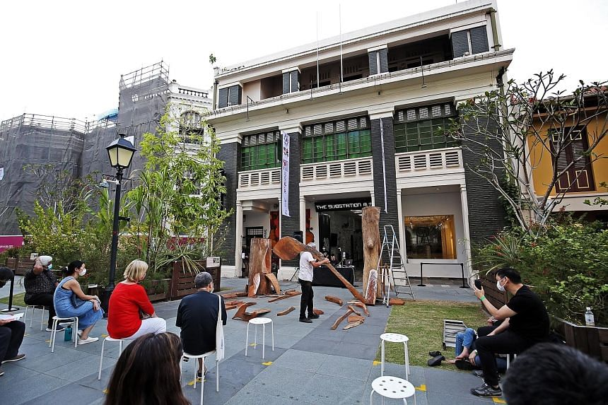 """Responding to NAC's statement that The Substation (above) """"incurred more than $1.5 million in salaries and other manpower costs"""", the arts venue said the figure is the total cost for three financial years. PHOTO: LIANHE ZAOBAO"""