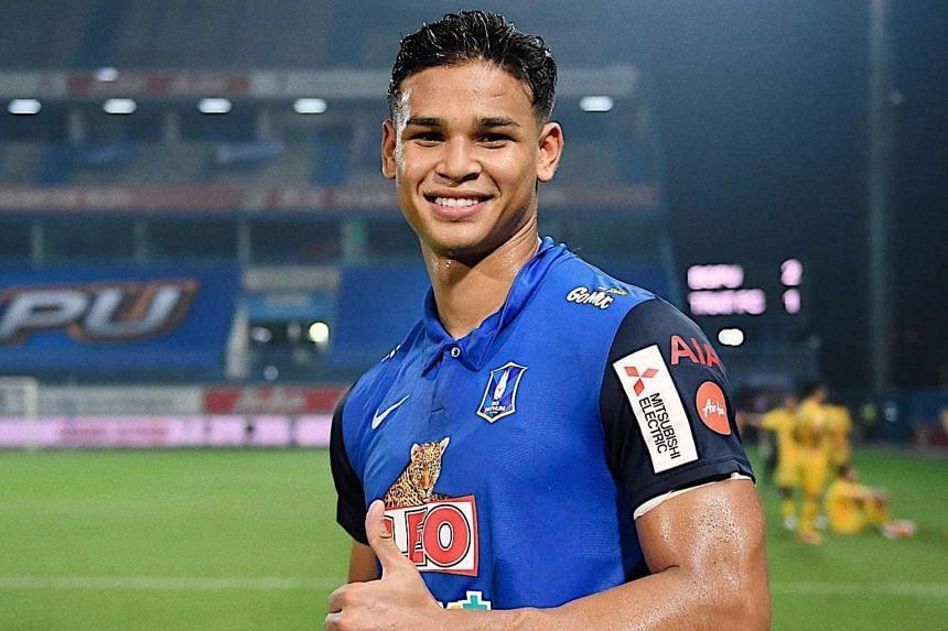 Footballer Irfan Fandi Singapore influencer
