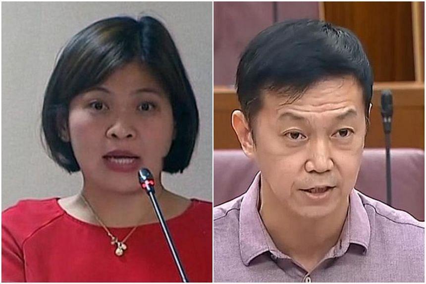 Nominated MP Tan Yia Swam (left) and Sembawang GRC MP Lim Wee Kiak.