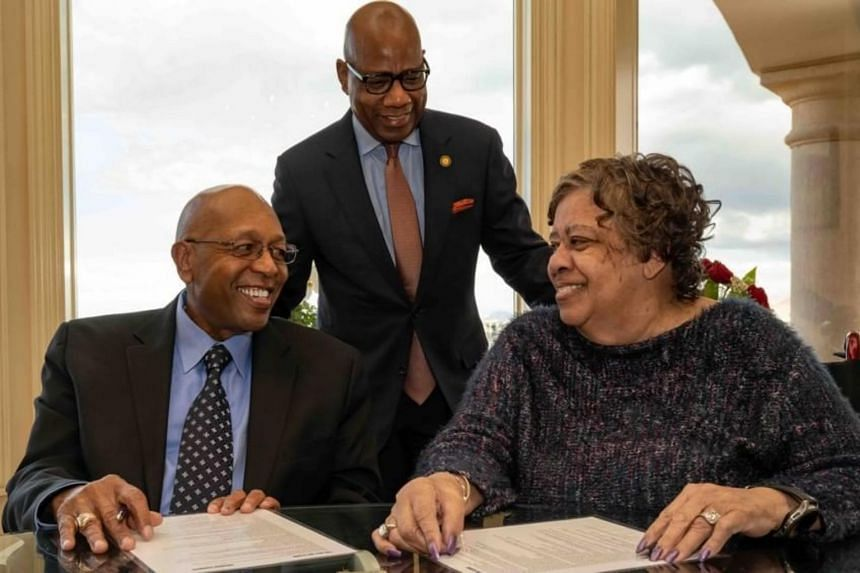Mr Calvin Tyler and his wife, Tina, have pledged US$20 million to Morgan State University.
