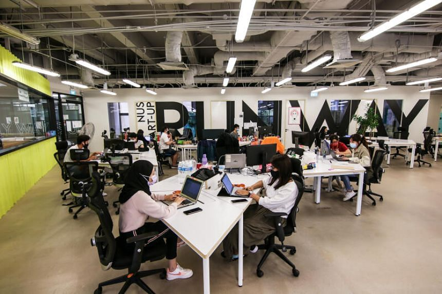 The Hangar by NUS Enterprise, an on-campus incubator that supports NUS start-ups and entrepreneurs.