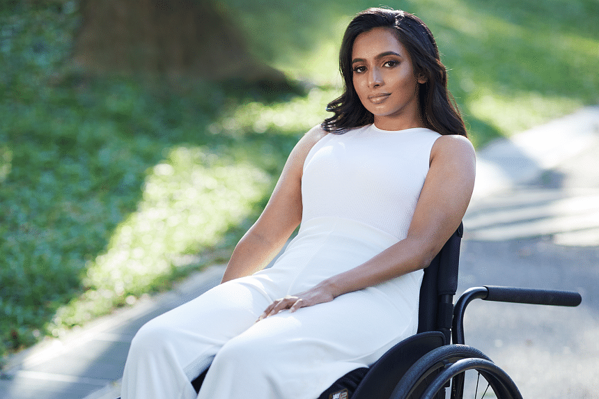 After a 2017 car accident left her paralysed from the neck down and with limited functions in her limbs, Fathima Zohra started to champion inclusiveness for the disabled. PHOTO: BRENDAN ZHANG