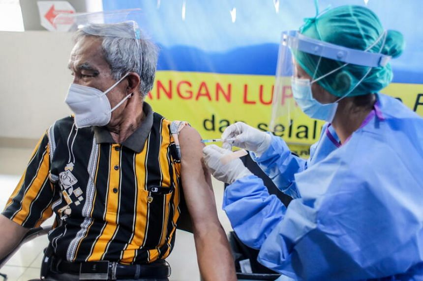Indonesia aims to inoculate some 181 million people within a year.
