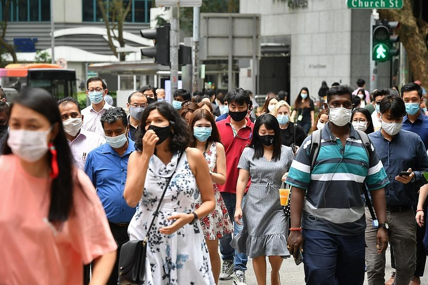 The Covid-19 pandemic saw a sizeable uptick in technology adoption throughout society, from hawker stalls to hotels. PHOTO: DBS