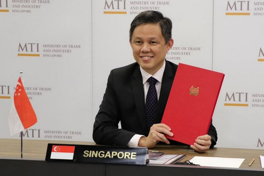 Trade and Industry Minister Chan Chun Sing said the treaty will offer greater protection for Singapore investors venturing into the Indonesian market.