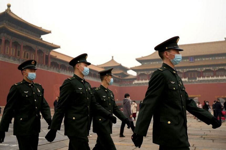 China has projected defence spending growth of 6.8 per cent this year.