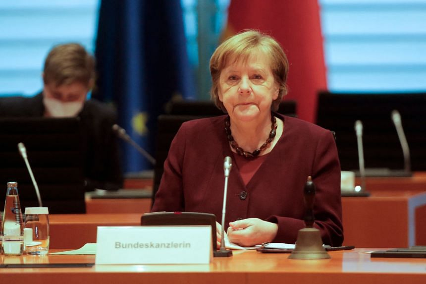 Support for Dr Angela Merkel's CDU/CSU alliance has fallen to a one-year low at around 30 per cent.