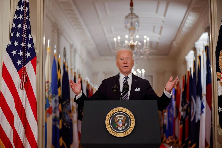 Mr Joe Biden said he was working to speed Covid-19 vaccinations to create a greater sense of normalcy in the country by the July 4 Independence Day holiday.