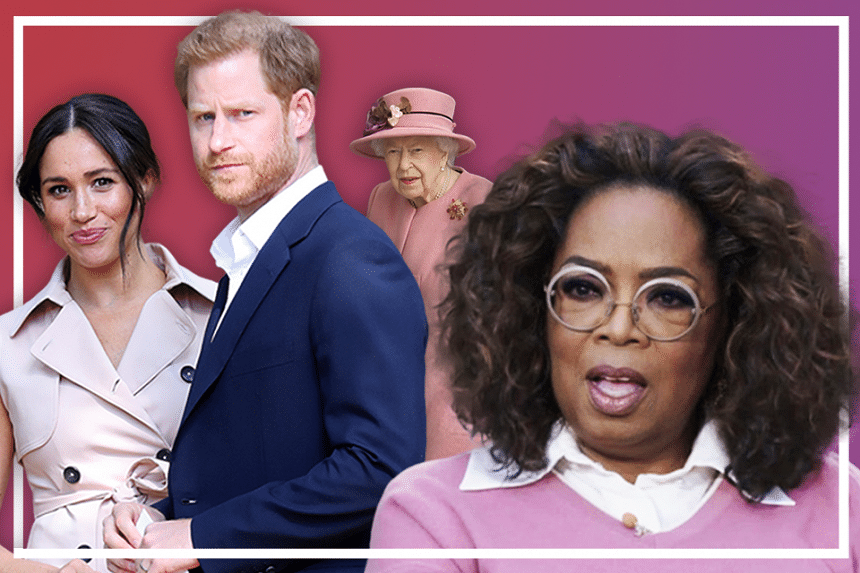 This week, the #PopVultures discuss Oprah Winfrey's (far right) exclusive sit-down interview with Prince Harry (second from left) and Meghan Markle (far left).