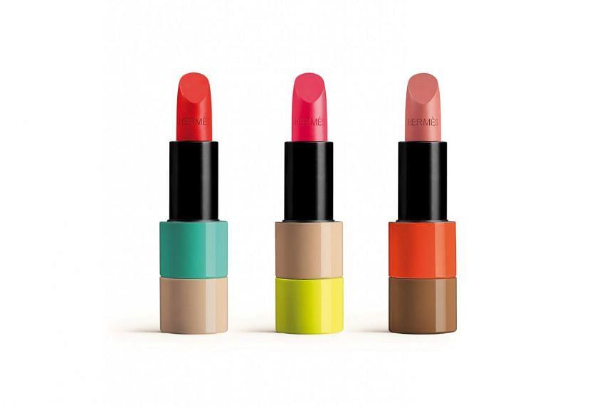 Hermes Spring-Summer 2021 Rouge Hermes lipsticks.