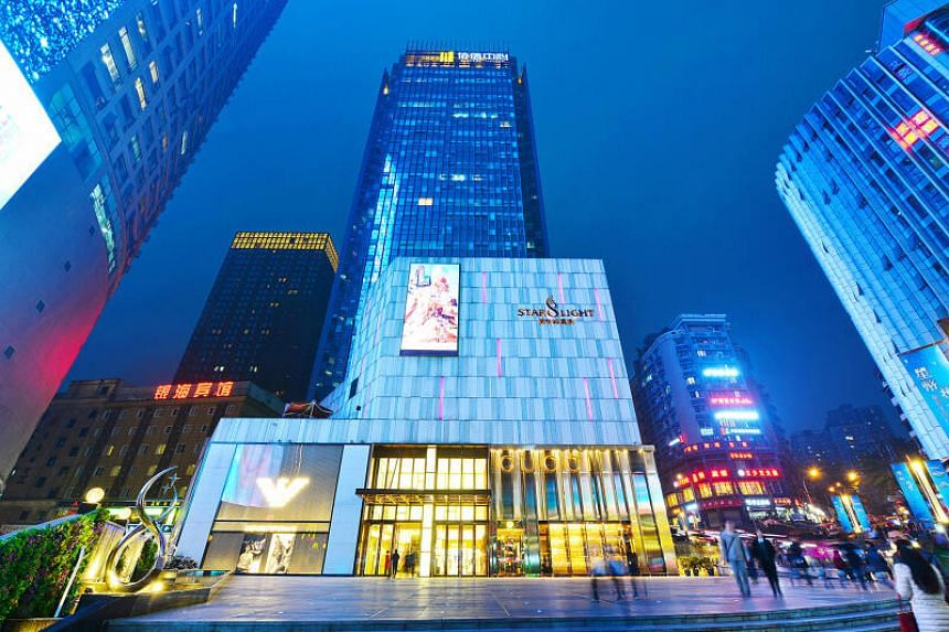 Chengdu Hilton Hotel and Starlight 68 Mall (above) are among the properties Sincere Property Group owns and operates.