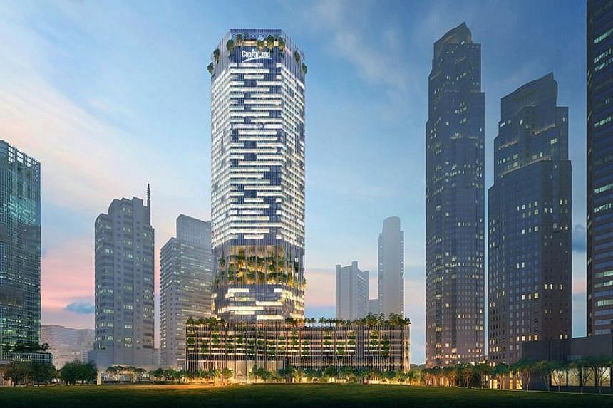 American architect Brian Yang is the Bjarke Ingels Group partner in charge of the 51-storey CapitaSpring (artist's impression, left), which is set to be one of the tallest - and greenest - buildings in Raffles Place.