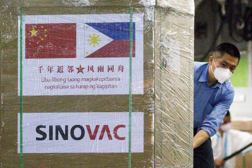 The Philippines kicked off its vaccination drive using some of the 600,000 doses of China's Sinovac Biotech vaccine.