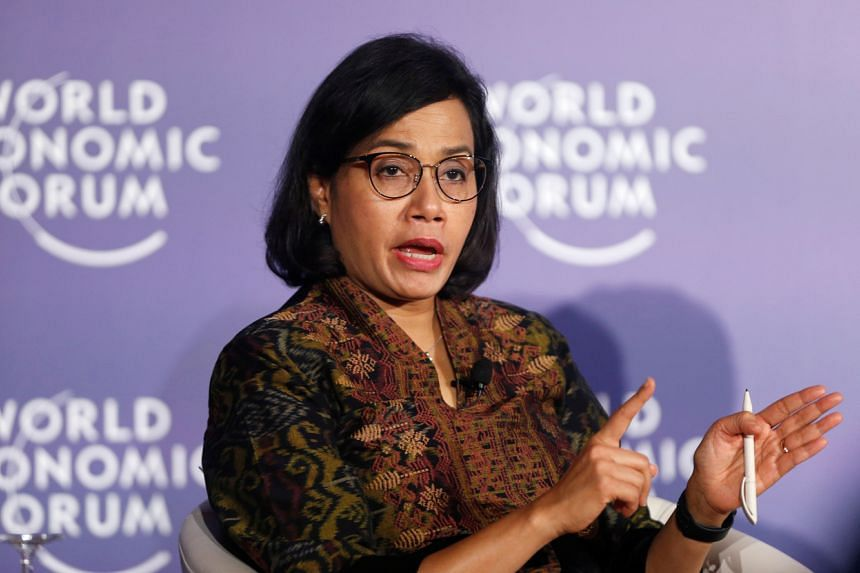 Indonesia's Finance Minister Sri Mulyani Indrawati attends the World Economic Forum in Hanoi on Sept 12, 2018.