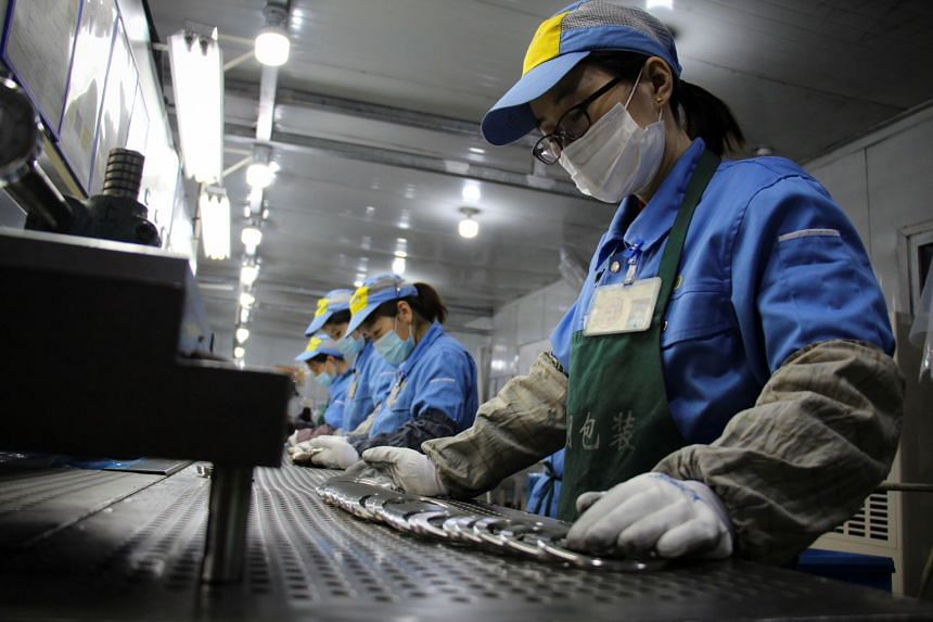 Industrial production jumped 35.1 per cent in January-February from a year earlier.