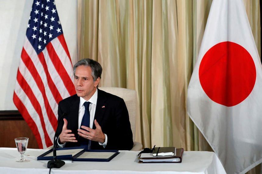 US Secretary of State Antony Blinken called for deeper economic ties with Japan.