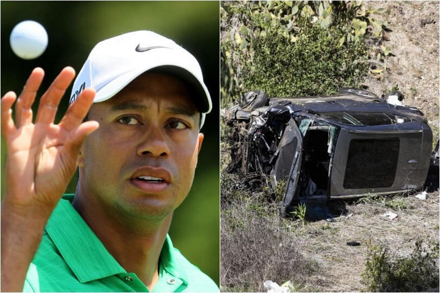 The one-car crash left the 82-time PGA Tour winner with a fractured right leg and shattered ankle.